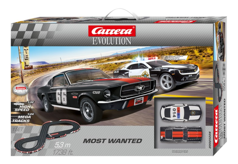 Carrera Evolution 25228 Coffret Most Wanted