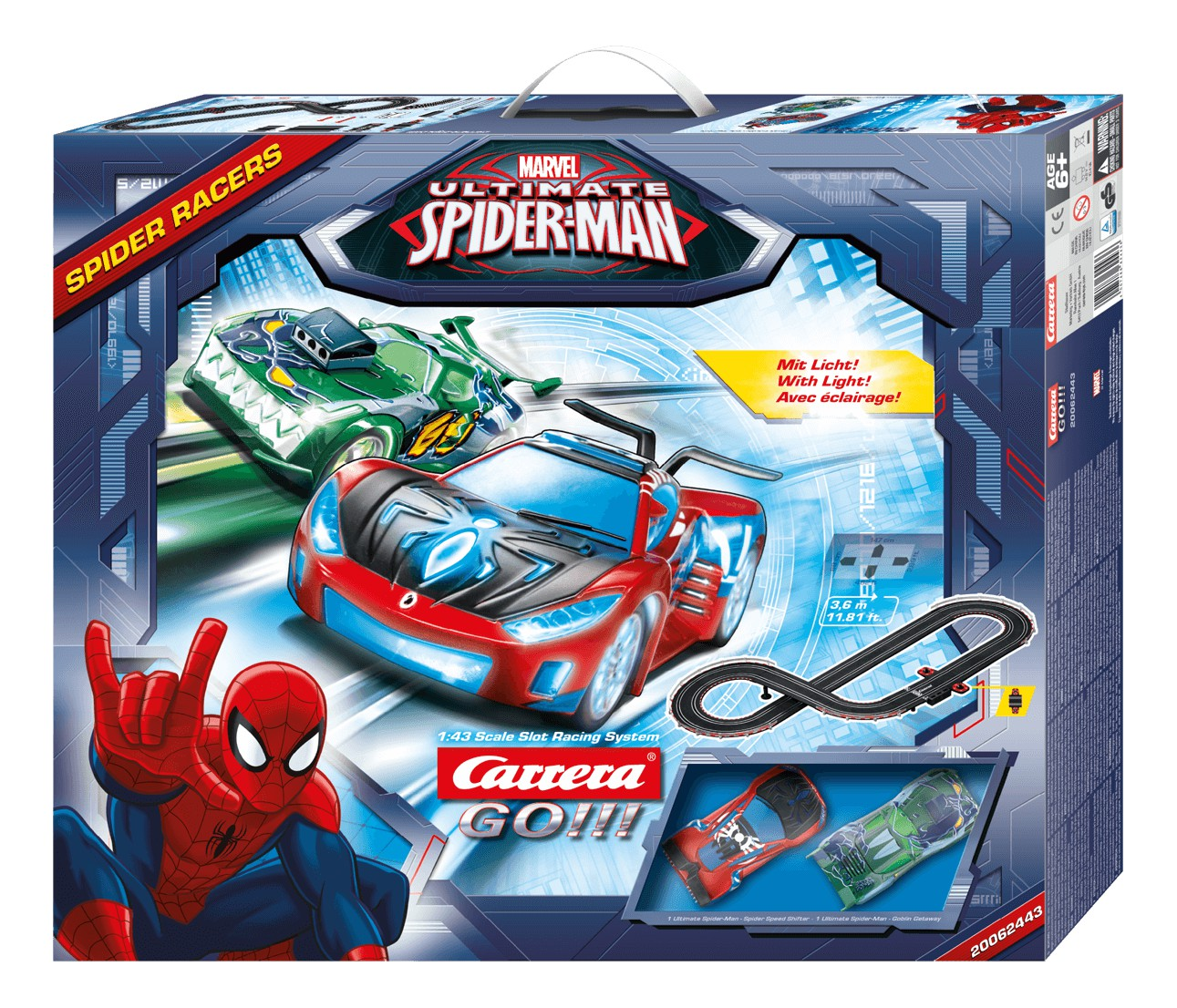 Carrera GO    62443 Coffret Spider Racers