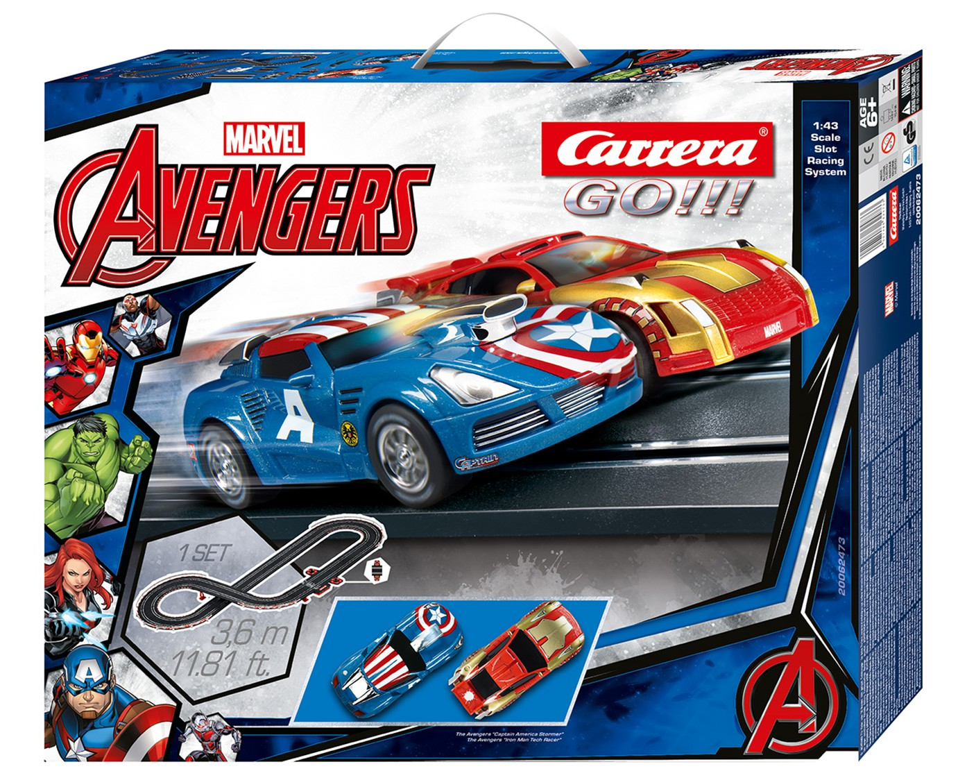 2019 Nouveau Style Carrera Go!!! 62473 Coffret The Avengers