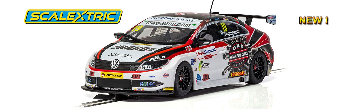 Scalextric C4016 VW Passat CC TEAM HARD BTCC 2018 – Bobby Thompson